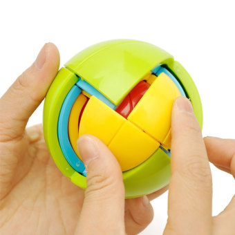 Harga Puzzle ball 3D intelligence ball maze toys for children three-dimensional space creative educational puzzle DIY assembled