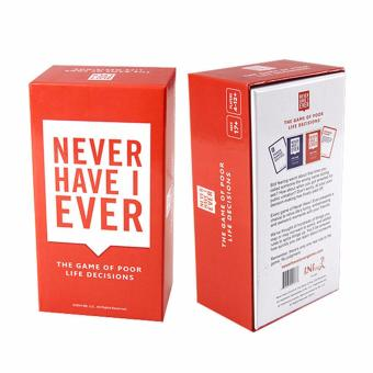Harga Never Have I Ever Card Game - The Game of Poor Life Decisions