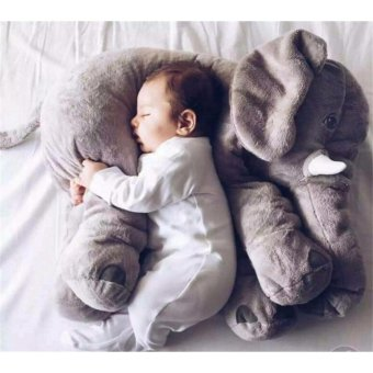 Harga Ins elephant doll plush toy Pillow to accompany the baby to sleep toys - intl