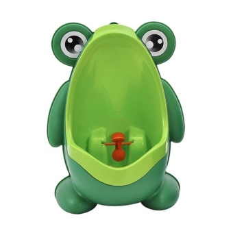 Harga WangWang Store Green Frog Potty Training Urinal Cute for Boys with Interesting Whirling Target Kids Removable Toilet - intl