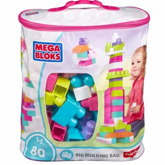 Harga Mega Bloks 80-Piece Big Building Bag, Pink