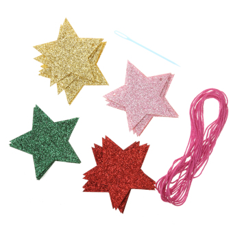 Harga MagiDeal Glitter Star Hanging Banner Colorful Sparkle Party Fashion Decor Kits - intl