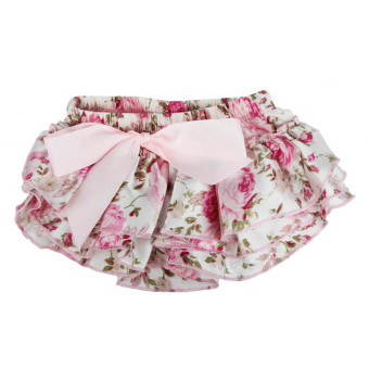 Harga Baby Ruffle Bloomers Layers Diaper Cover Flower Shorts Skirts Pink