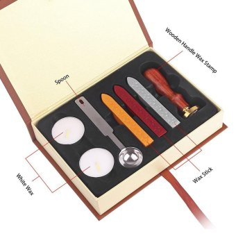 Harga Wax Seal Stamp Kit Sunsbell Stamp Seal Sealing Wax Set - School Badge - intl