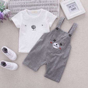 Baby & Toddler Summer Boys Suspender Pants Clothing Sets - intl