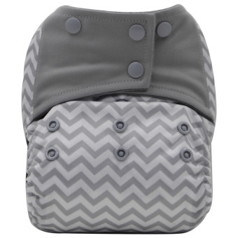 Harga Asenappy Charcoal Bamboo Reusable All-In-One Cloth Diaper Sewn Insert Gray wave