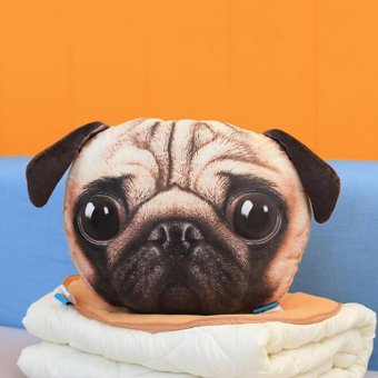 Harga Cat Dog Shape Sofa Cushion Car Travel Gift Home Chair Pillow Head Rest PUG - intl