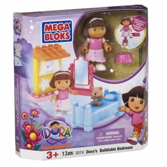 Harga Mega Bloks blocks Build and Learn-DORA's buildable bedroom Group(13pcs) - intl