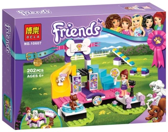 Harga Bole girl Friends good friends series 41300 pet dog Jin standard race assembled building blocks toy 10607