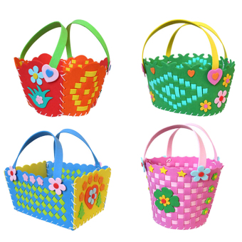 Harga Kids Child DIY 3D EVA Foam Basket Early Learning Puzzle Toys Craft Kits