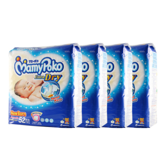 Harga MamyPoko Diaper Extra Dry New Born 52's x 4 Packs (52 pieces/pack)