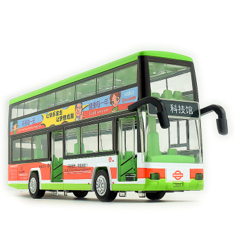 Harga Car model alloy car double-decker bus double bus bus toy car new boy gifts