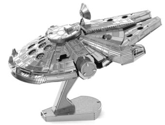 Harga Metallic Steel Nano 3D Jigsaw Puzzle Model No Glue Toy TheMillennium Falcon (EXPORT)