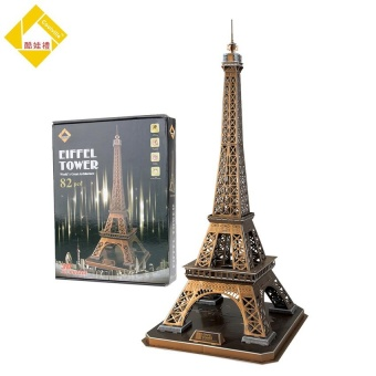 Harga Sam Educational 3D Model Puzzle Jigsaw Eiffel Tower Large Size Diy Toy82pcs For Kid - intl