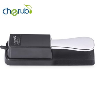 Harga Cherub Wtb - 005 Professional Sustain Pedal For Digital Piano(Silver And Black) - intl