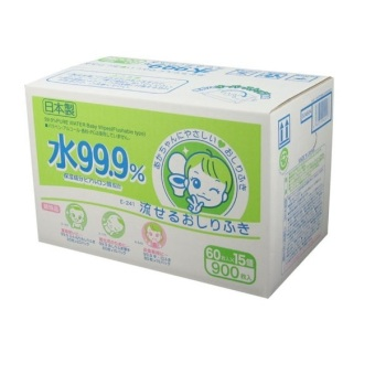 Harga 99.9% Pure Water Wipes - Flushable