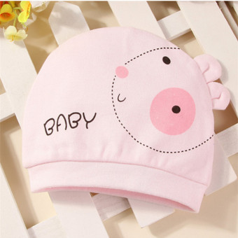 Harga Newborn Baby Hat Pure cotton Infant Cap New Born Clothing & Accessories Rabbit pattern Pink
