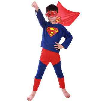 Superman Costume Halloween Costumes for Kids Anime Cosplay Carnival Party Costume for Boys
