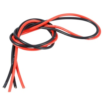 Harga 2M 12AWG Copper Cable Wire For RC Cars 1M Red & 1M Black - intl