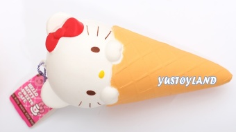 Harga Slow rebound squishy 20 cm large kitty cat ice cream cones kitty cat can pinch flavor doll