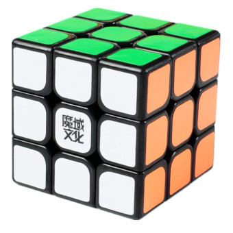 Harga 360D SC MoYu 3x3x3 Hualong Magic Cube Puzzle Black (Intl)