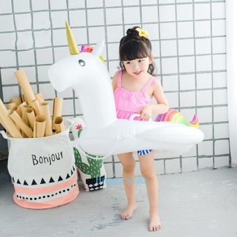 Baby Swimming Ring Unicorn Seat Inflatable Unicorn Pool Float Baby Summer Water Fun Pool Toy Kids Swimming float - intl