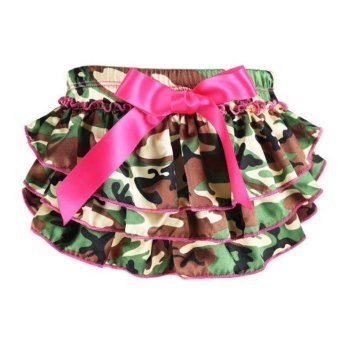 Harga Baby Ruffle Bloomers Layers Diaper Cover Flower Shorts Skirts Camouflage
