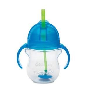 Harga Munchkin Click Lock Weighted Flexi Straw cup 7oz, Blue
