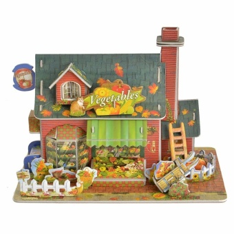 Harga Children Gifts & Toys 3D Colourful Vegetable Shop Puzzles Paper Model