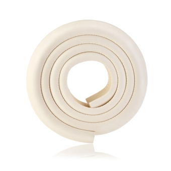 2M L-shaped Thicken Baby Safety Table Edge Corner Protector Guard Cushion Anti-collision Bumper Strip (Beige)