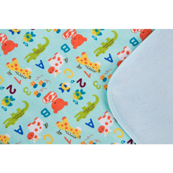 Harga Double-Sided Waterproof Changing Mat with Cute Animal Designs