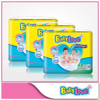 Harga BabyLove Easy Tape Mega Pack L 72pcs x 3 packs