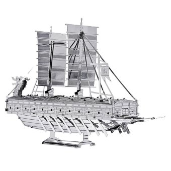 Harga 3D Metal Puzzles Models Turtle Ship (Silver)(Export)(Intl)