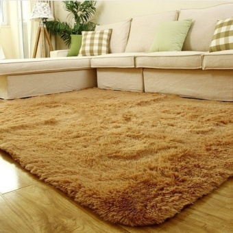 Harga Fang Fang Best! Shaggy Carpet Area Rugs For Bedroom Living Room 60cm x 160cm - khaki - intl