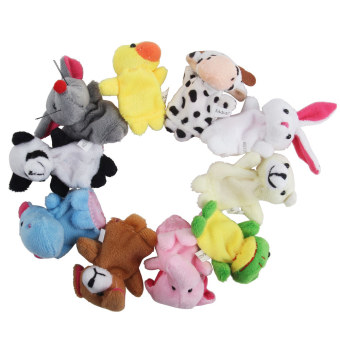 Leegoal Cute Velvet Animal Style Finger Puppets Set (Set of 10) - Intl