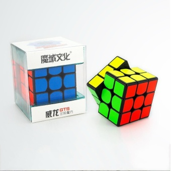 Harga Rubik's Cube - Moyu Weilong GTS Speed Cube 3x3x3 Magic Cube Puzzle Sticker(Black) - intl