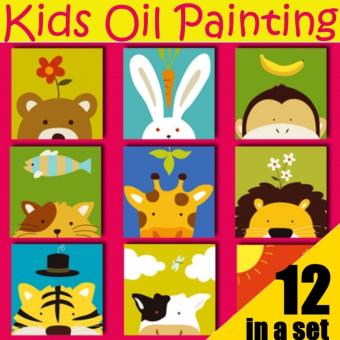 Kids Oil Painting Set - Animal Series (Set of 12)