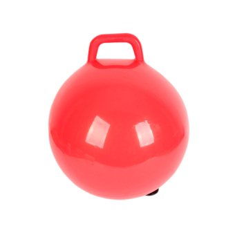 Harga Lucky Inflatable Hopping Ball Handle Fitness Ball Kids Ball Toy (Red) - intl