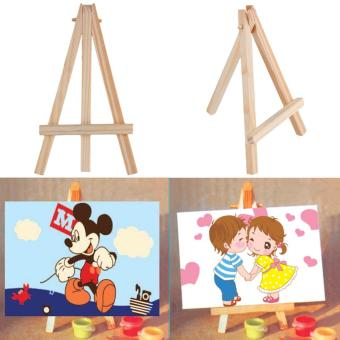 Allwin Kids Mini Wooden Easel Artist Art Painting Name Card Stand Display Holder