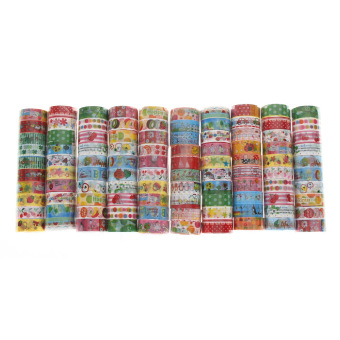 Harga Bulk10Pcs/1.5cmX3 Meter Paper Sticky Adhesive Sticker Decorative Washi Tape