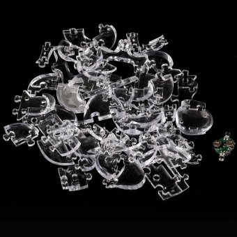 Harga OH NEW 3D Crystal Puzzle DIY Jigsaw Assembly Model Gift Toy Skull Skeleton