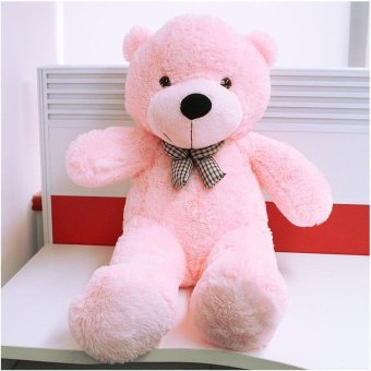 Harga BUYINCOINS 100CM Cute Teddy Bear Pink Giant Big Cute Plush 100% Cotton Huge Soft Toy Gift