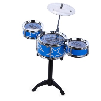 Jazz Rock Drums Set Kids Toy Musical Instrument Christmas Birthday Gift - intl