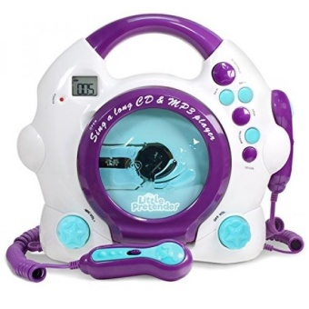 Kids Karaoke Machine - CD & MP3 Player Sing-A-Long Music Player With 2 Microphones - intl