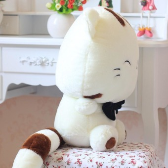 Lovely Children Gift Plush Stuffed Toy Cute Fortune Cat(White 30cm)