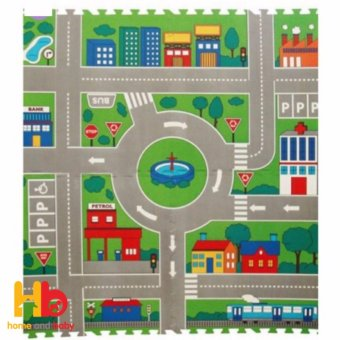 Lucky Baby Board Playmat - City Map 607381