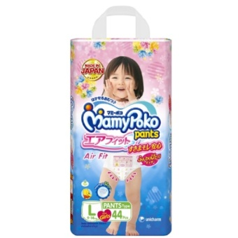Harga MamyPoko Airfit Girl L 44 (4 packs)