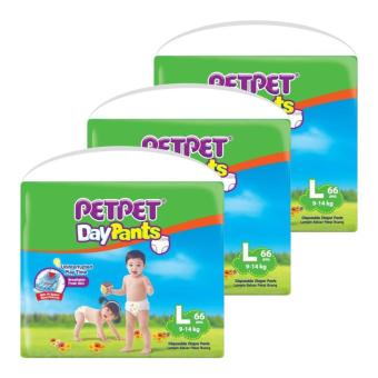 Harga Petpet DayPants Mega Pack L66 x 3 Packs
