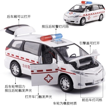 Previa police car alloy car model