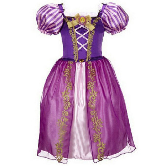 Princess Dress Children Clothing Girl's Dress Purple